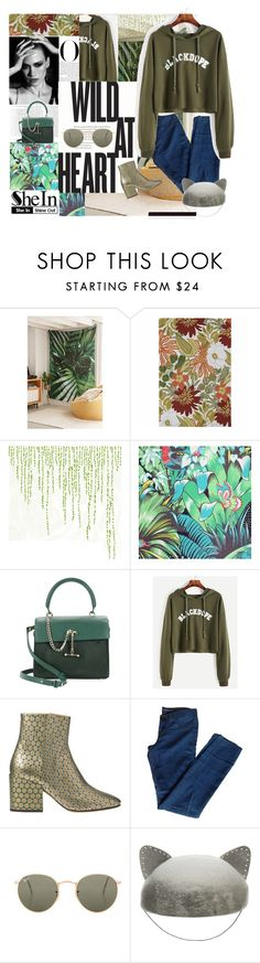 """shein"" by ultimate-j4u ❤ liked on Polyvore featuring DENY Designs, Kaleen, DOMESTIC, Osborne & Little, Vanity Fair, Luana, Dries Van Noten, J Brand, Ray-Ban and Eugenia Kim"