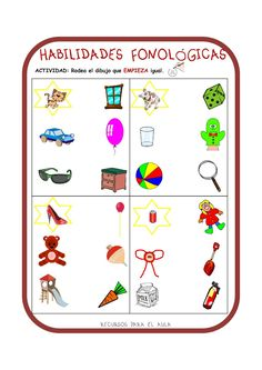 Centro Deusto de Psicopedagogía y Logopedia: CONCIENCIA FONOLÓGICA Dyslexia Activities, Dyslexia Strategies, Pre K Activities, Dyslexia Quotes, Phonological Awareness, Struggling Readers, Speech Therapy, Literacy, Homeschool