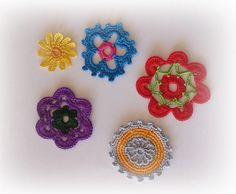 flores em crochet / crochet flowers