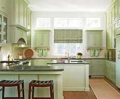 See How to Use Green in Your Kitchen