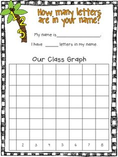 Chicka Chicka Boom Boom - graphing letters in name for class