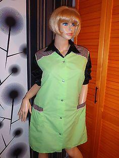 Nylon Kittel Schürze Vintage Glanz Blouse Sissy Boy Shiny Silk Apron Overall