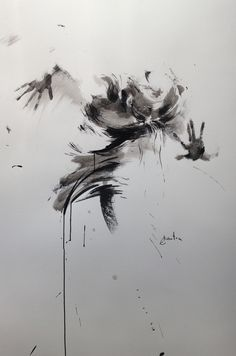 ewa hauton ink painting on paper 70x100cm