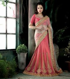 Wedding Ceremony  Lehenga Saree Collection 2014For Young Girls (4)