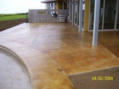 Concrete stained floor