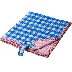 Picknick- und Badedecke blau-kariert / rosa vichy karo - Rice Denmark #picnic #blanket