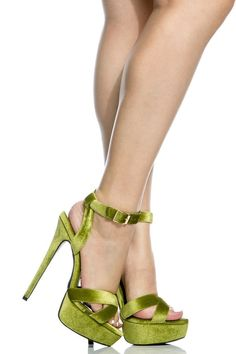 Lime Velvet Wrap Around Platform Stiletto Heels @ Cicihot Heel Shoes online store sales:Stiletto Heel Shoes,High Heel Pumps,Womens High Heel Shoes,Prom Shoes,Summer Shoes,Spring Shoes,Spool Heel,Womens Dress Shoes #velvetshoeshighheels #promheelsstilettos