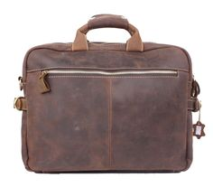 "Men's Handmade Vintage Leather Briefcase / Leather Messenger Bag / 15"" MacBook 14"" Laptop Bag / Leather Travel Bag #n11 - Thumbnail 2"