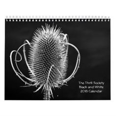 The Thrill Society 2018 Black and White Calendar - black and white gifts unique special b&w style