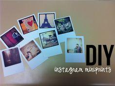 a joyful journal: DIY instagram miniprints