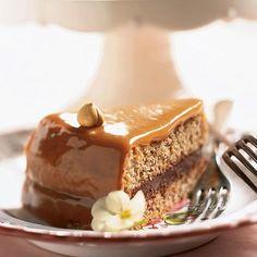 Caramel-Cloaked Chocolate-Hazelnut Torte Recipe