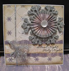 Card with silver chipboard snowflake