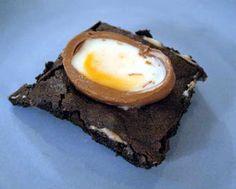 Cadbury Cream Egg Brownies