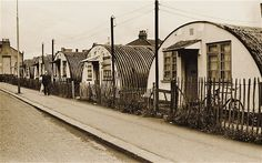 Towards the end of the Second World War families were housed in tiny prefabricated homes and told they'd be there for only a couple of years. I took this photo of the last remaining Nissen huts in Bridge Road in Stratford in June 1969 - Steve Lewis