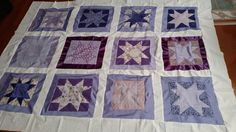 The big quilt top. All handsewn! See other photos and closeups of some of the blocks in this board!