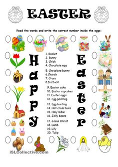 EASTER VOCABULARY - MATCHING