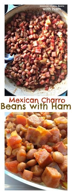 Mexican Charro Beans with Ham at ReluctantEntertainer.com