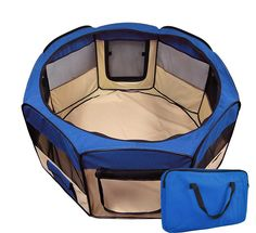 Pet Playpen 2 Door Exercise Kennel Soft Tent Puppy Dog Crate - 3 Sizes and 4 Colors! *** Want to know more, visit the site now : Dog kennels