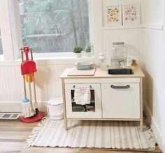 Our Montessori Home Tour - Montessori in Real Life Ikea Montessori, Montessori Bedroom, Ikea Play Kitchen, Toddler Kitchen, Small Bookshelf, Bedroom Storage, Kids Room, Bedroom Kids, Decoration
