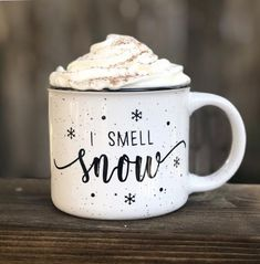 Christmas Aesthetic - I Smell Snow Campfire Mug//Coffee Mug//Coffee Cup//Holiday Mug//Fall Mug//Christ. I Smell Snow Campfire Mug//Coffee Mug//Coffee Cup//Holiday Mug//Fall Mug//Christmas Mug//Gilmore Girls Source by Noel Christmas, All Things Christmas, Winter Christmas, Christmas Crafts, Christmas Decorations, Glitter Decorations, White Christmas Snow, Christmas Coffee, Christmas Ideas