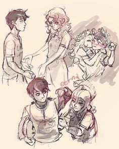 Percy Jackson Fan Art, Percy Jackson Characters, Percy Jackson Ships, Percy Jackson Memes, Percy Jackson Fandom, Percy Jackson Cabins, Percabeth, Solangelo Fanart, Viria