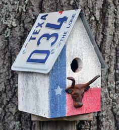 Hey, I found this really awesome Etsy listing at https://www.etsy.com/listing/194133646/texas-birdhouse-rustic-birdhouse