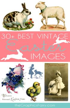 30 Best Vintage Stock Easter Images - Free- Great for Crafts, DIY and making your own Printables via Jacot Jacot Jacot - The Graphics Fairy Graphics Fairy, Hoppy Easter, Easter Bunny, Easter Eggs, Vintage Cards, Vintage Images, Easter Images Free, Free Images, Ostern Party