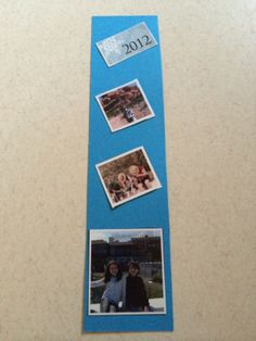 Bookmarker with photos from greeting cards pictures
