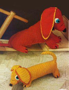 Virkkaa somat mäyräkoirat | Kodin Kuvalehti Knitting Patterns, Crochet Patterns, Kids Prints, Crochet Fashion, Crochet Animals, Handicraft, Crafts For Kids, Children Crafts, Knit Crochet