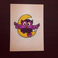 HOOT @ the moon. #owl #owls #owlandmoon #illustration #doodle #doodling #doodleaday #doodles #drawing #drawingaday #instaart #instaartist #instadoodle #instagramartists #instagramart #art #artstagram #artmarker #micron #artmarkers #buhos #jennysuchindesigns