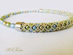 Perličkový náhrdelník (Czech glass pearls necklace), beaded necklace, beadwork, pearl necklace