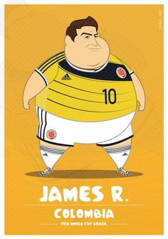 """Today I am unfolding a post that would be a great wit and humor to watch """"If Football Players Were Sumo Wrestlers"""" how would they possibly look? Fat Football Player, Best Football Players, Football Art, Soccer Players, James Rodriguez, World Cup 2014, Fifa World Cup, Lionel Messi, Cristiano Ronaldo"""