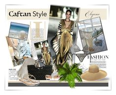 """Cavalli Caftan Style..."" by desert-belle ❤ liked on Polyvore featuring Gottex, Kelly & Katie, Scents & Feel, Oliver Peoples, Monsoon and caftanstyle"