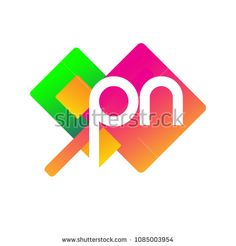 Letter PN logo with colorful geometric shape, letter combination logo design for creative industry, web, business and company. Web Business, Initials Logo, Creative Industries, Logos, Geometric Shapes, Royalty Free Stock Photos, Logo Design, Colorful, Lettering