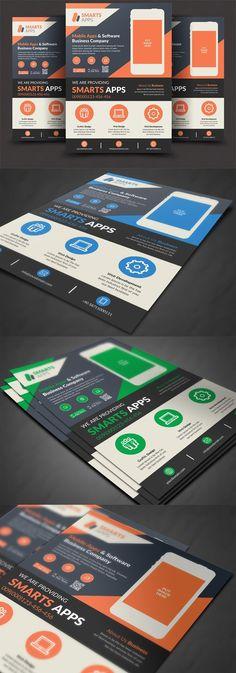 Mobile App Flyer. Flyer Templates. $6.00