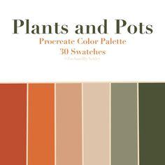 Sage Color Palette, Bedroom Colour Palette, Orange Color Palettes, Green Color Schemes, Green Palette, Nature Color Palette, Vintage Color Schemes, Logo Color Schemes, Spring Color Palette