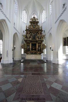 Autel choeur intérieur Église Saint-Pierre de Malmö, Suède (Sankt Petri Kyrka)