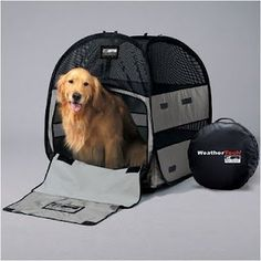 Features: -Includes backpack for carrying and storage of the tent. -Portable and foldable pop-up pet tent. -Perfect for car trips or a day at the park. -Integrated sprung steel loops for a strong Camping Glamping, Camping Gear, Outdoor Camping, Backpacking, Dog Tent, Cabin Tent, Dog Water Bowls, Camping Lanterns, Dog Travel