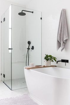 Bathroom Design Ideas Lowes also Bathroom Tile To Ceiling; Modern Bathroom Design Ideas Small Spaces via Bathroom Decor Hashtags next Bathroom Ideas Corner Tub Latest Bathroom Designs, Simple Bathroom Designs, Modern Bathroom Design, Bathroom Interior Design, Modern Interior Design, Bath Design, Modern Bathrooms, Design Rustique, Laundry In Bathroom