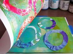 Gelli Plate Printing with Joan Bess - Cloth Paper Scissors Gelli Plate Printing, Printing On Fabric, Cloth Paper Scissors, Gelli Arts, Plate Art, Painted Paper, Art Plastique, Fabric Painting, Art Lessons