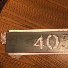Metal House Number Sign Home Address Sign Address Sign   Etsy