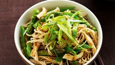 Ingredients 4 green onions 2 (300g) chicken breast fillets, trimmed 4cm piece fresh ginger, thickly sliced 270g packet Hakubaku organic dried soba noo...
