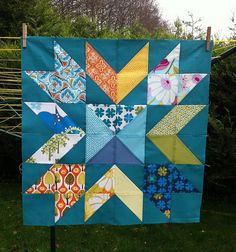Amazing block by Fiona of Poppy Makes. this would make a lovely whole quilt top!