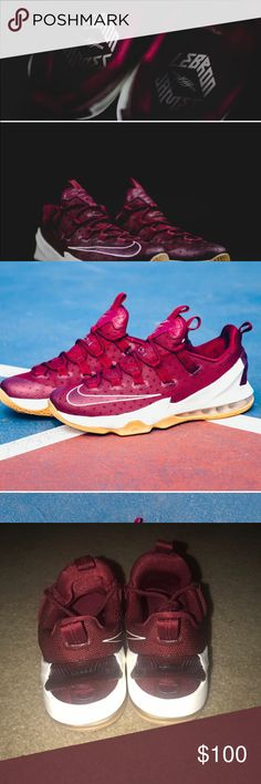 BRAND NEW Lebron 13 Low Cavs Edition New without box. Style 683895-101 100% authentic; purchased from an authorized Nike retailer. Lebron James Shoes Athletic Shoes
