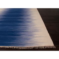 Sound Wave Ombre Area Rug in Blue and White - Dot & Bo