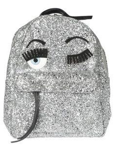 CHIARA FERRAGNI Chiara Ferragni Zaino Glitter Argento. #chiaraferragni #bags…