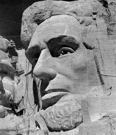 The head of Abraham LIncoln under construction, c. Lincoln was dedicated on Sept. Monte Rushmore, Time Vault, Fort Laramie, Wind Cave, International Symbols, Photo Supplies, Rapid City, The Rock, Statue
