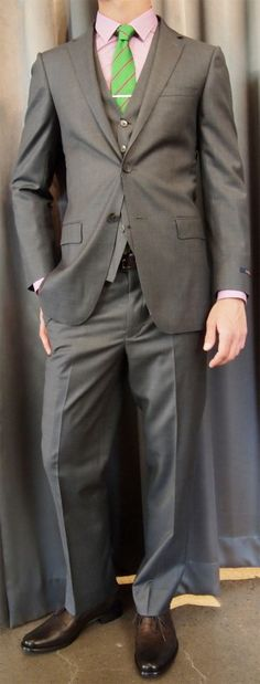 Paul Betenly peak lapel suit $650, vest $150 from Gotstyle Menswear.
