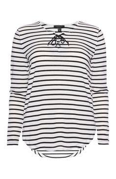 Primark - Ivoorkleurig shirt met lange mouwen