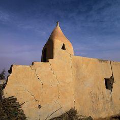 Old Mosque In Ubari Lakes, Umm al-Maa, Libya